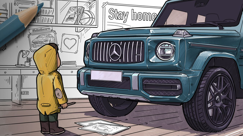 Mercedes-Benz Design-Skizzen.