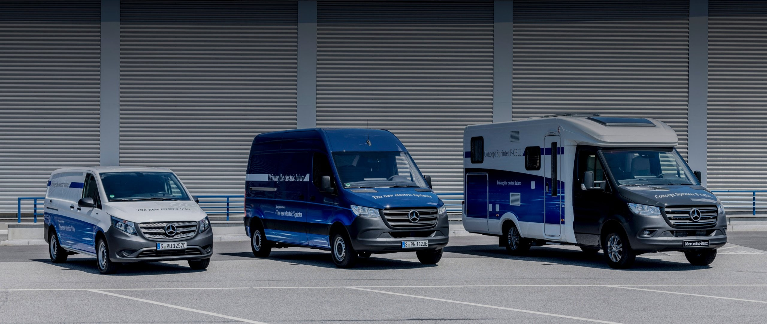 Die Mercedes-Benz Elektrotransporter beim eDrive@VANs next level 2018 in Hamburg.