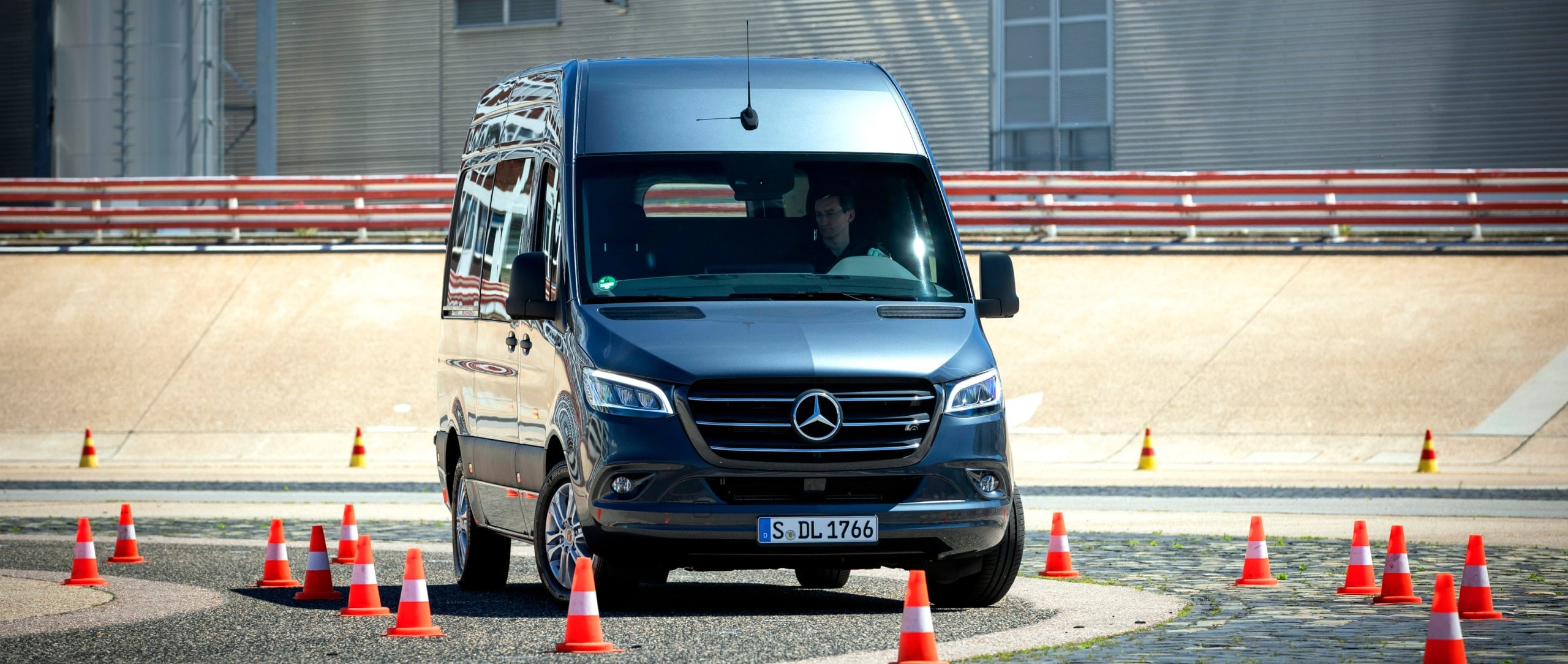Der Mercedes-Benz Sprinter (2019) Safety Workshop in Stuttgart.