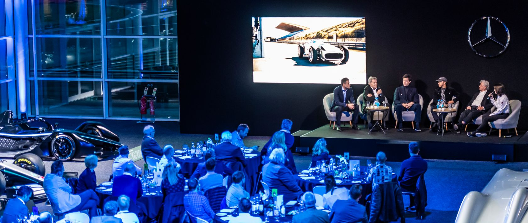 Mercedes-Benz works drivers spanning seven decades discussed motorsport and reflected on many unusual stories.