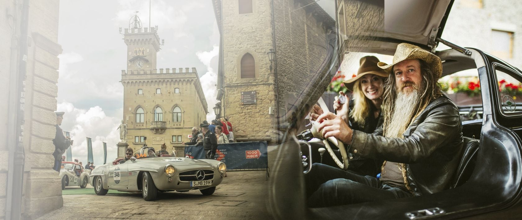 "Mercedes-Benz celebrates ""125 Years of Motorsports"" in the classic Italian endurance competition Mille Miglia."