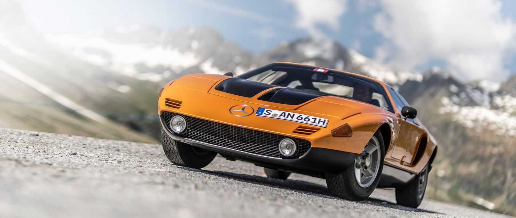 The Mercedes-Benz C 111 was the star of this year's Silvretta Classic 2019 classic car rally.