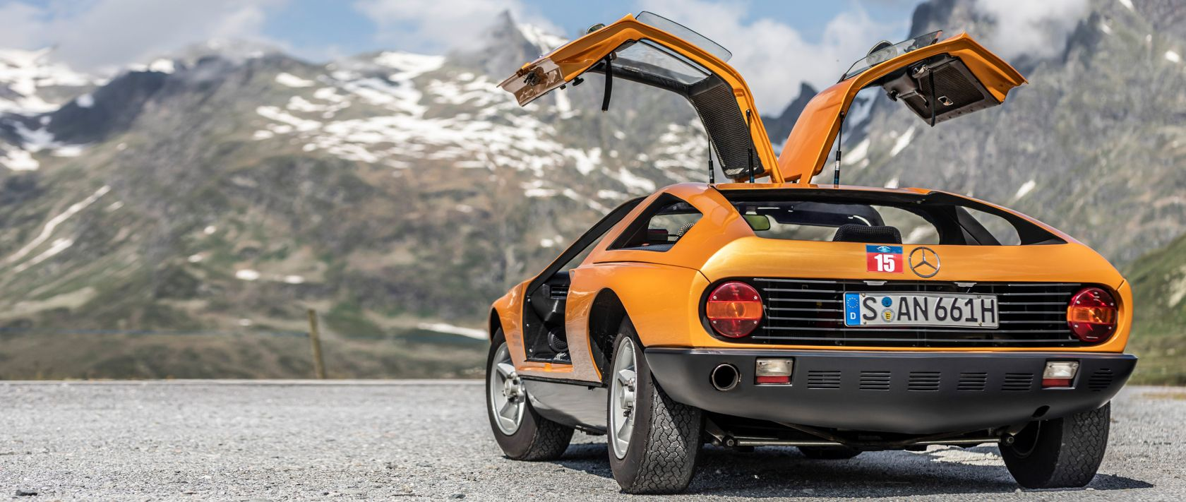The Mercedes-Benz C 111 is always worth a look, not least because of its gullwing doors.