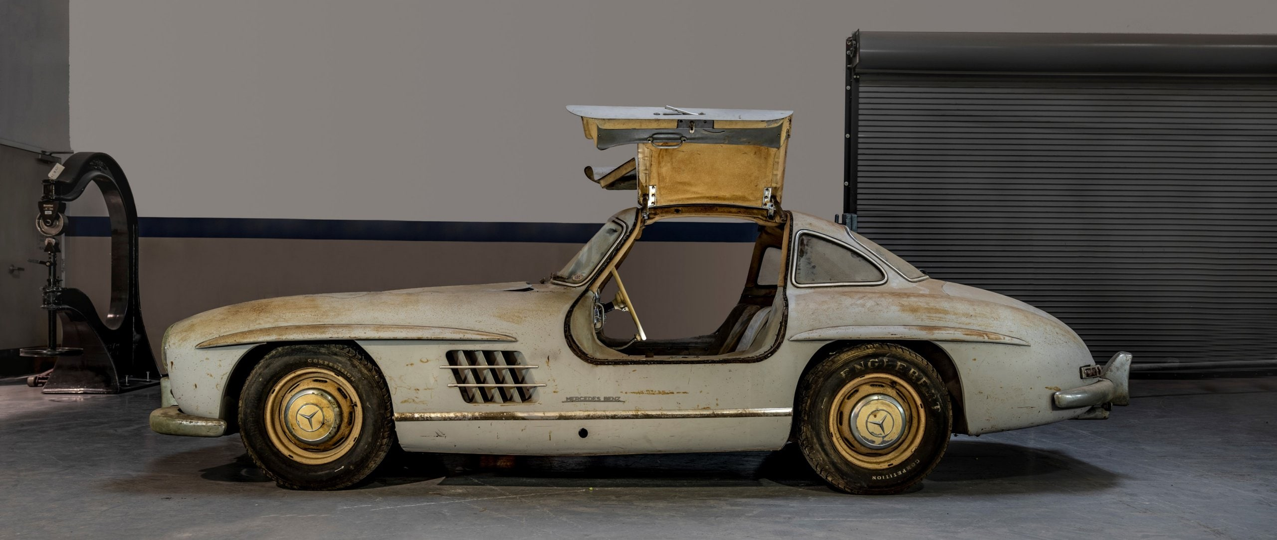 "Mercedes-Benz 300 SL ""Gullwing"" (W 198), chassis number 43, in ""barn find"" condition."