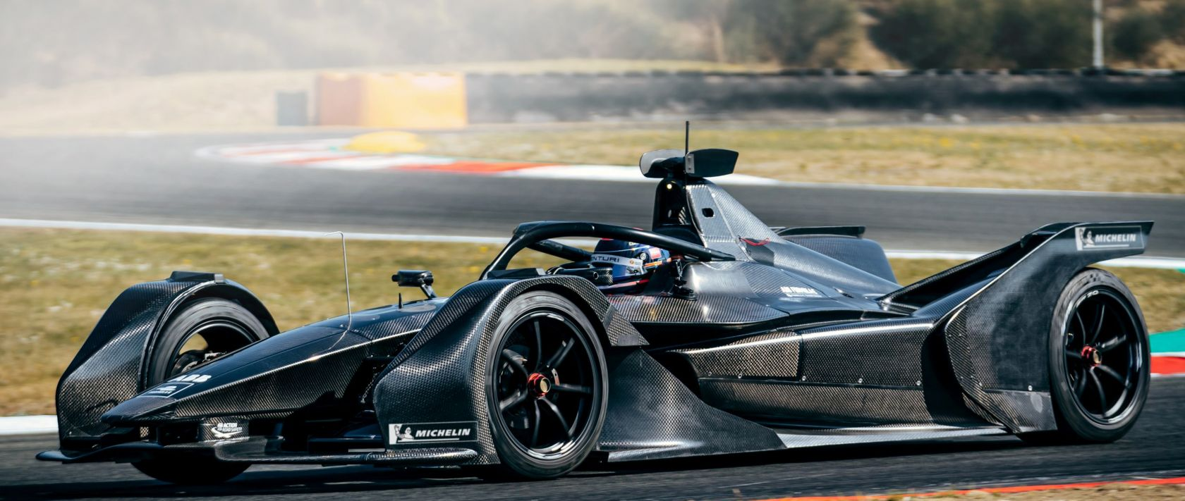 The Mercedes-Benz EQ Silver Arrow 01 during a series of test drives in Varano (Italy) in April 2019 for the preparation of the Formula E in November 2019.