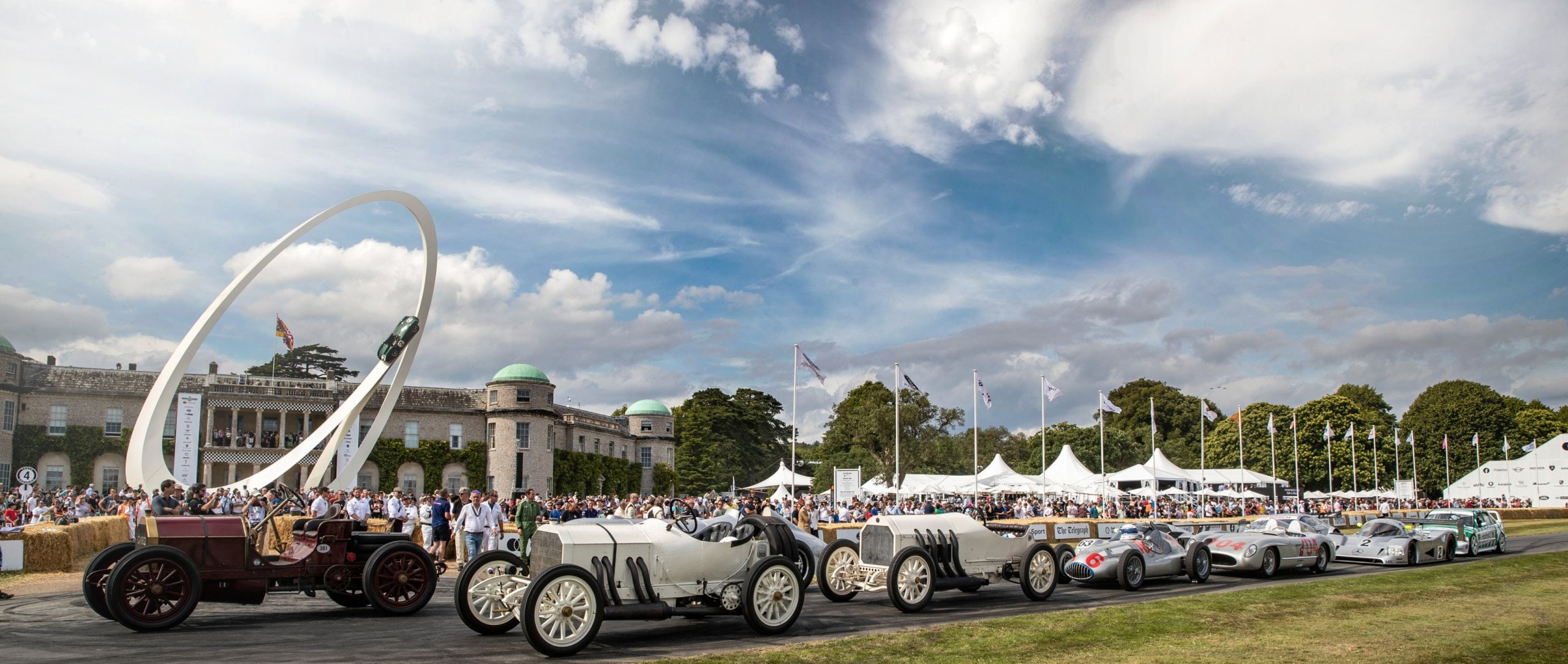 Mercedes-Benz Classic vehicles at the Goodwood Festival of Speed.
