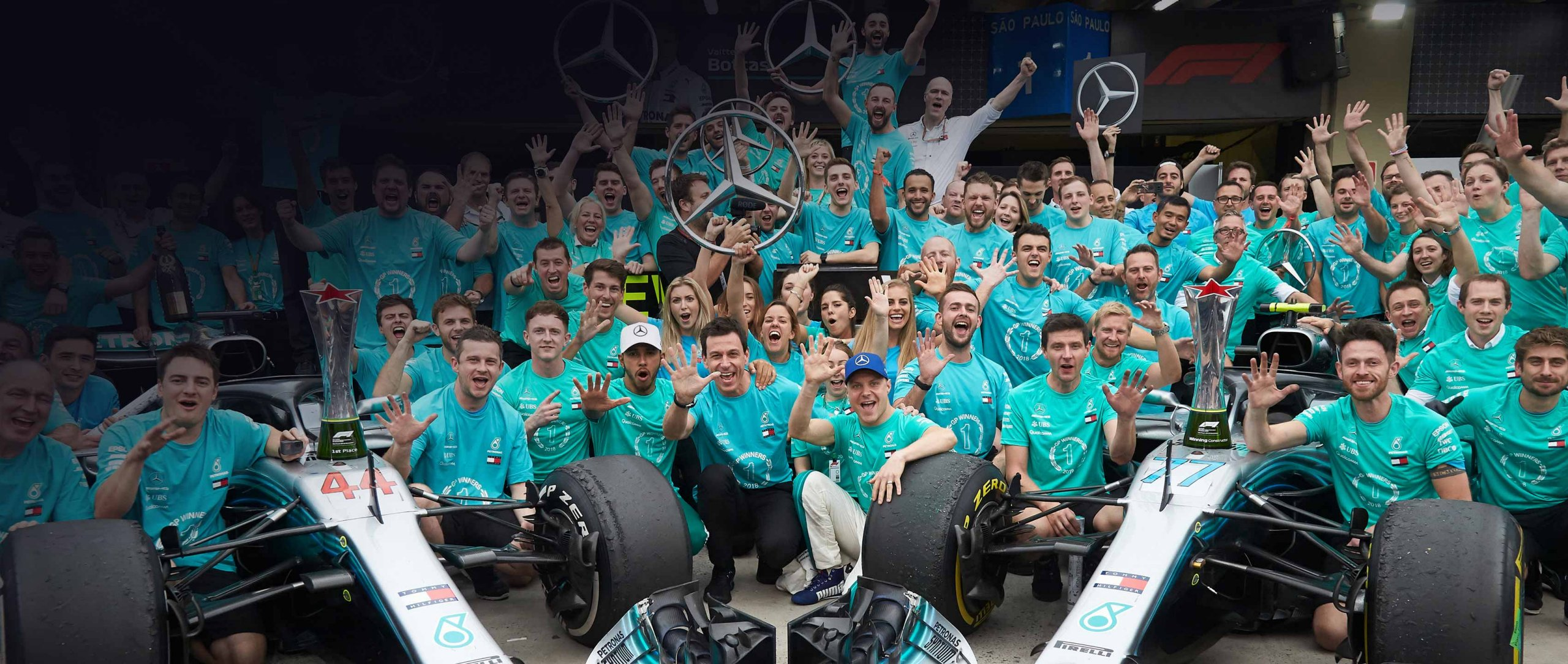 The best team once again: in 2018, MERCEDES AMG PETRONAS Motorsport wins the FIA Formula 1 Constructors' World Championship for the fifth time in a row.