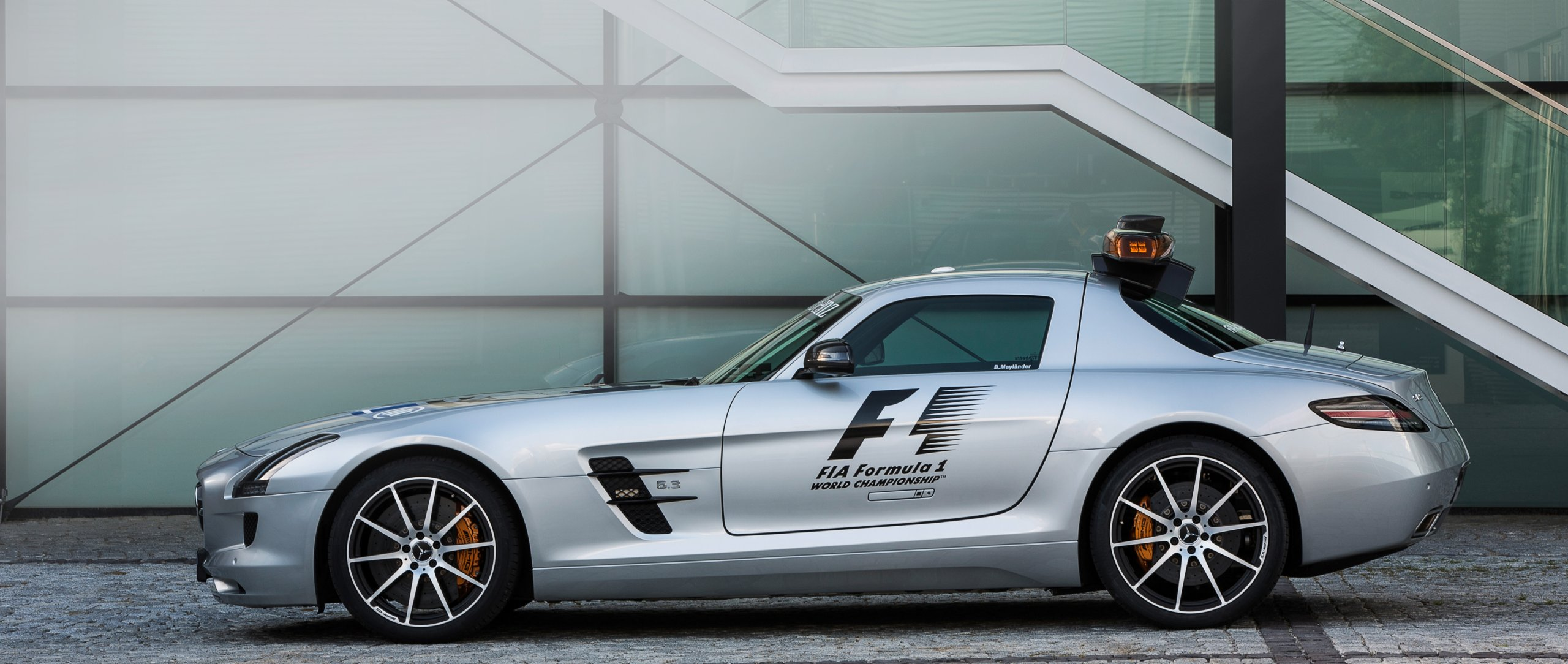 The silver Mercedes-AMG GT R official FIA F1 Safety Car.