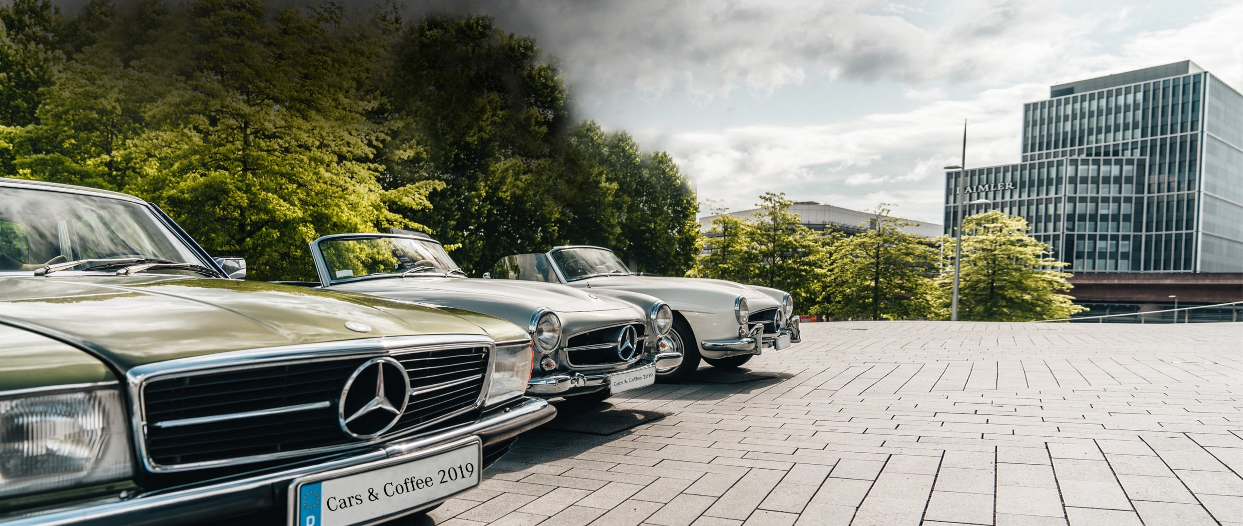 """Cars & Coffee"" at the Mercedes-Benz Museum."