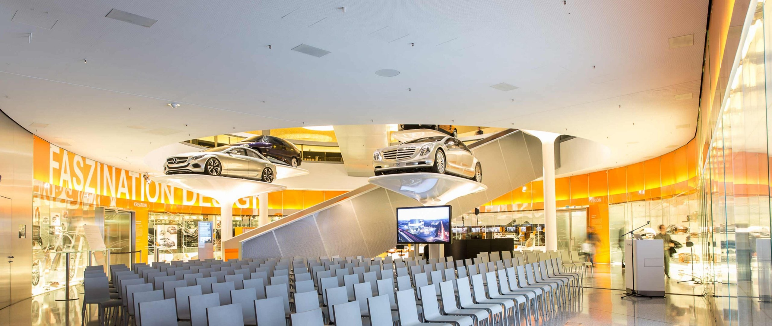 Hosting events at the Mercedes-Benz Museum Stuttgart: Fascination of Design.