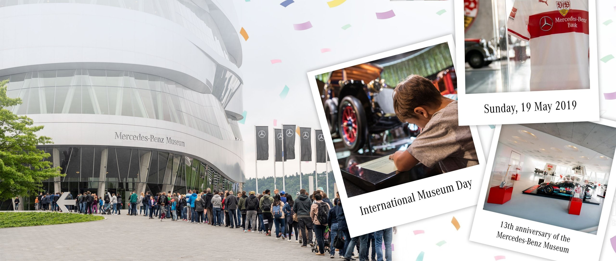 The 19th of May 2019 is International Museum Day and also the 13th anniversary of the Mercedes-Benz Museum.