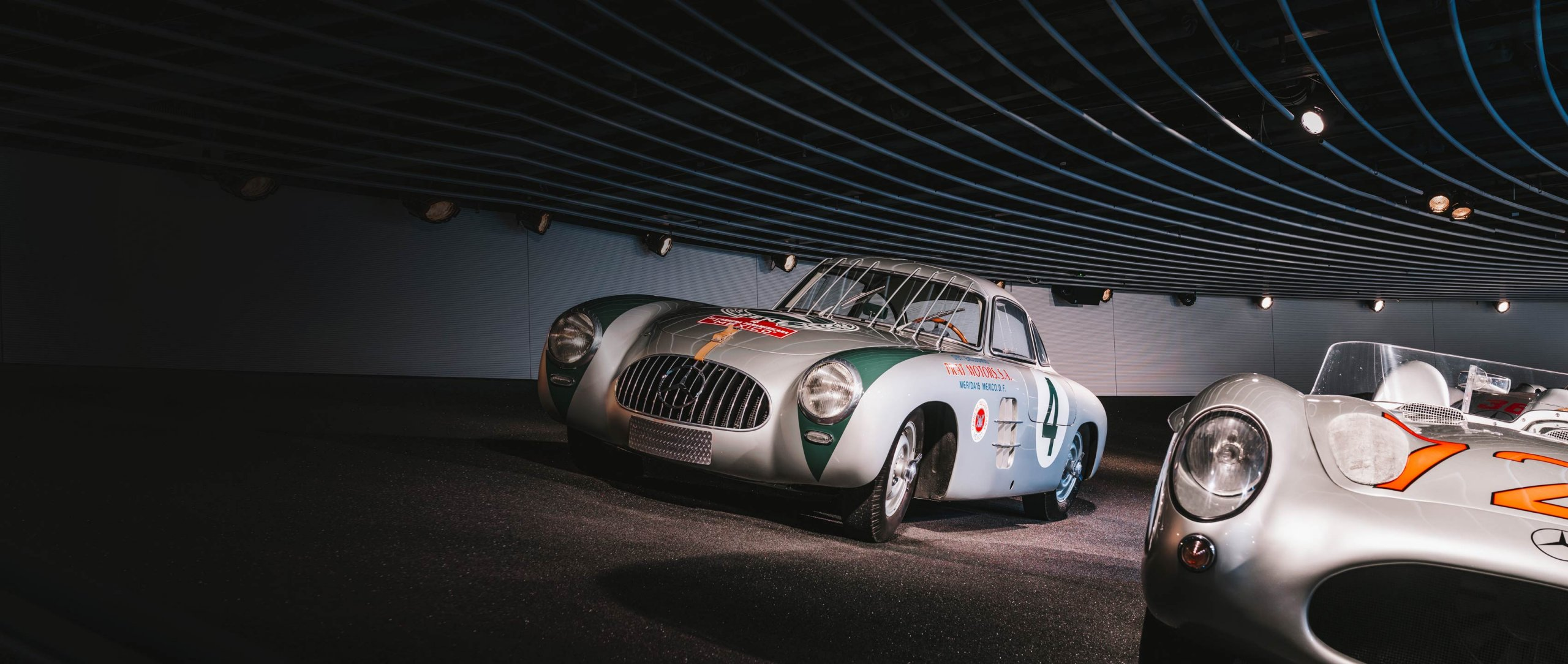 Mercedes-Benz 300 SL racing sports car.