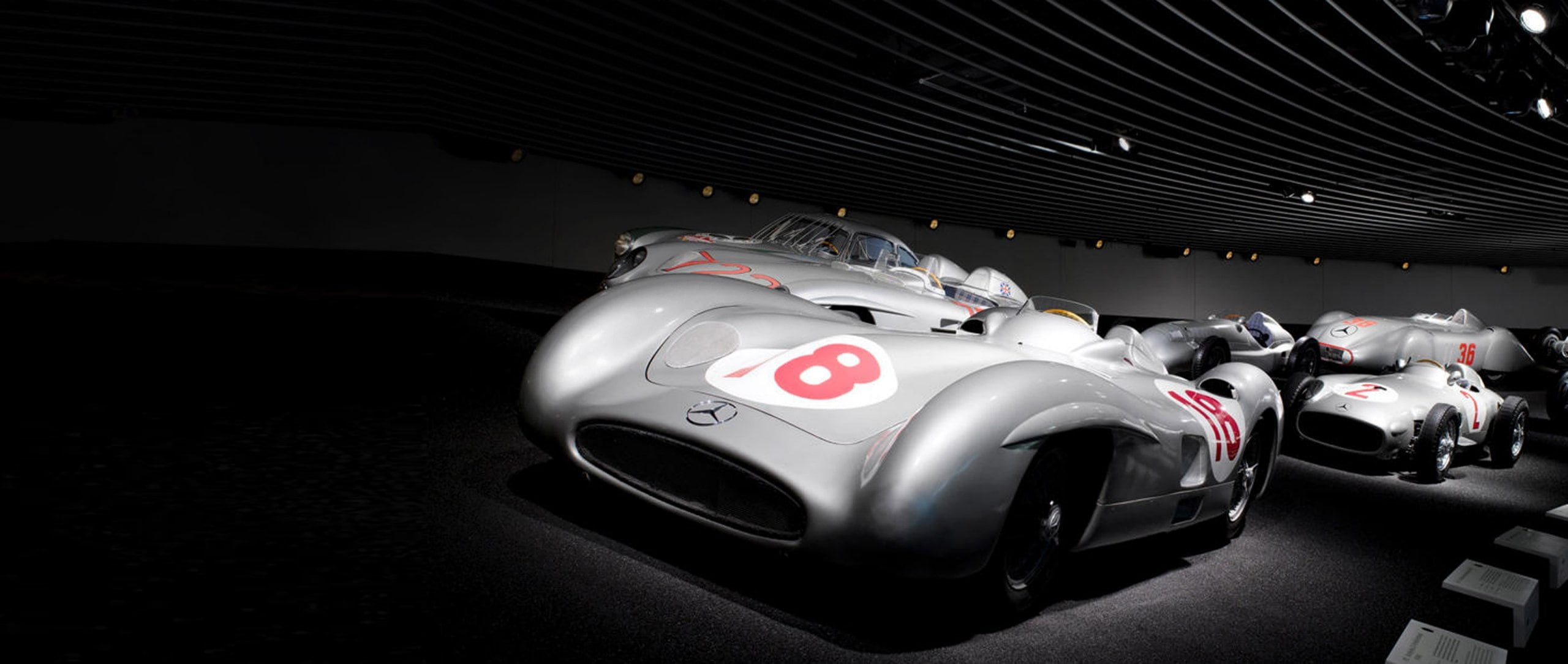 Mercedes-Benz W 196 R 2.5-liter streamlined racing car.