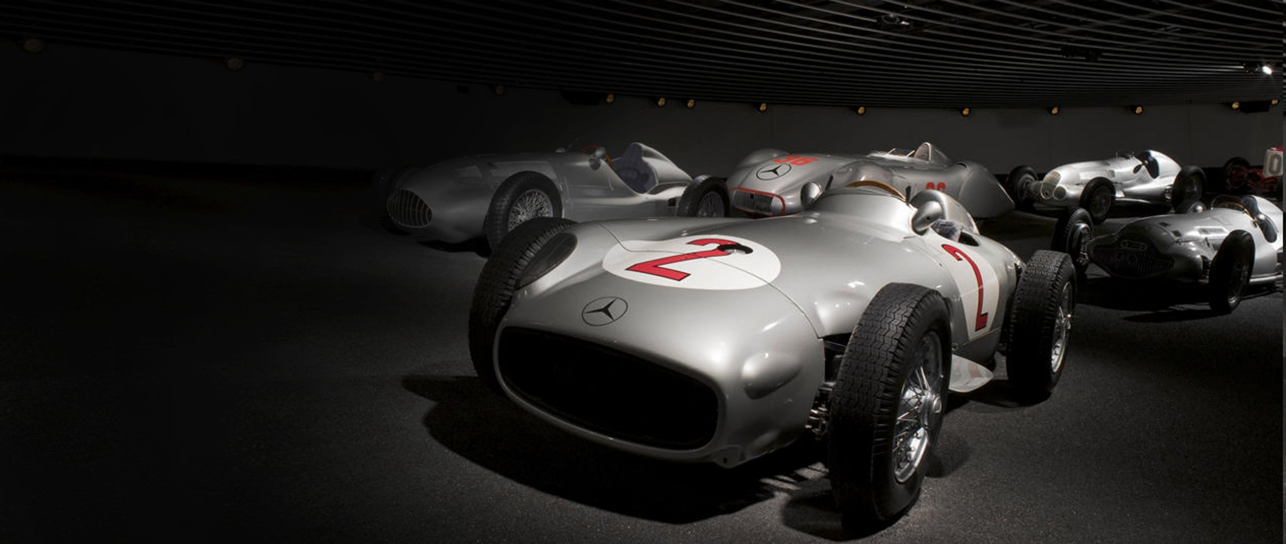 Mercedes-Benz W 196 R 2.5-liter racing car.