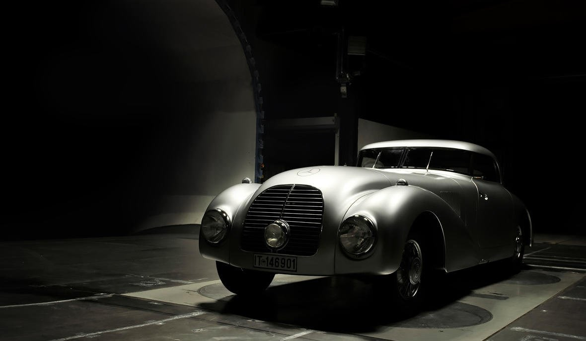 Back after more than 75 years: the Mercedes-Benz 540 K Streamliner.