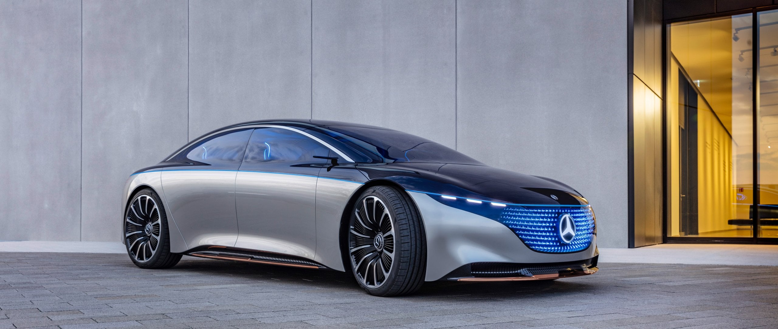 The new Mercedes-Benz VISION EQS.