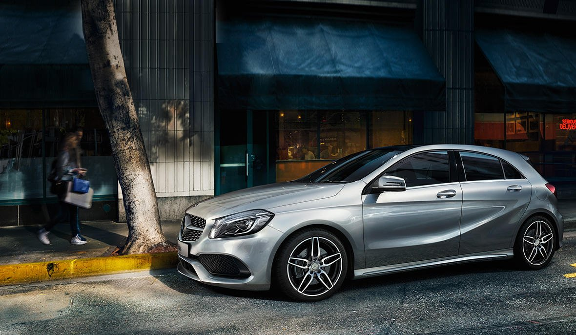 The offside of the new generation of the A-Class.