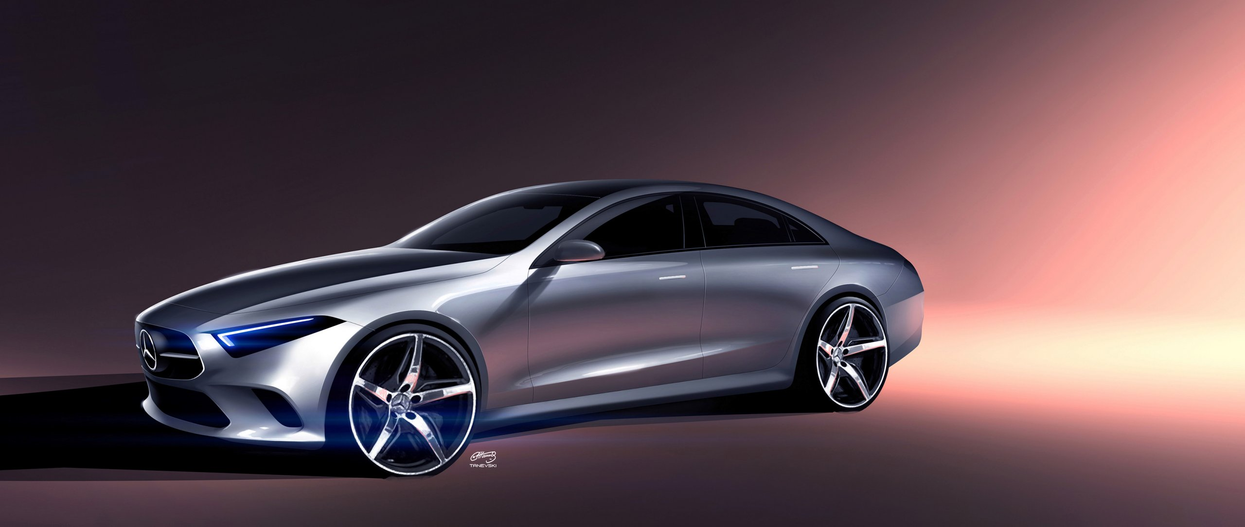 Mercedes-Benz Design Sketch of the Concept CLS