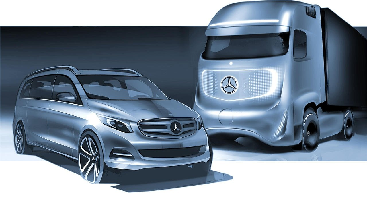 Commercial vehicle and vans design: Designers at Daimler AG are also responsible for the commercial vehicle design.