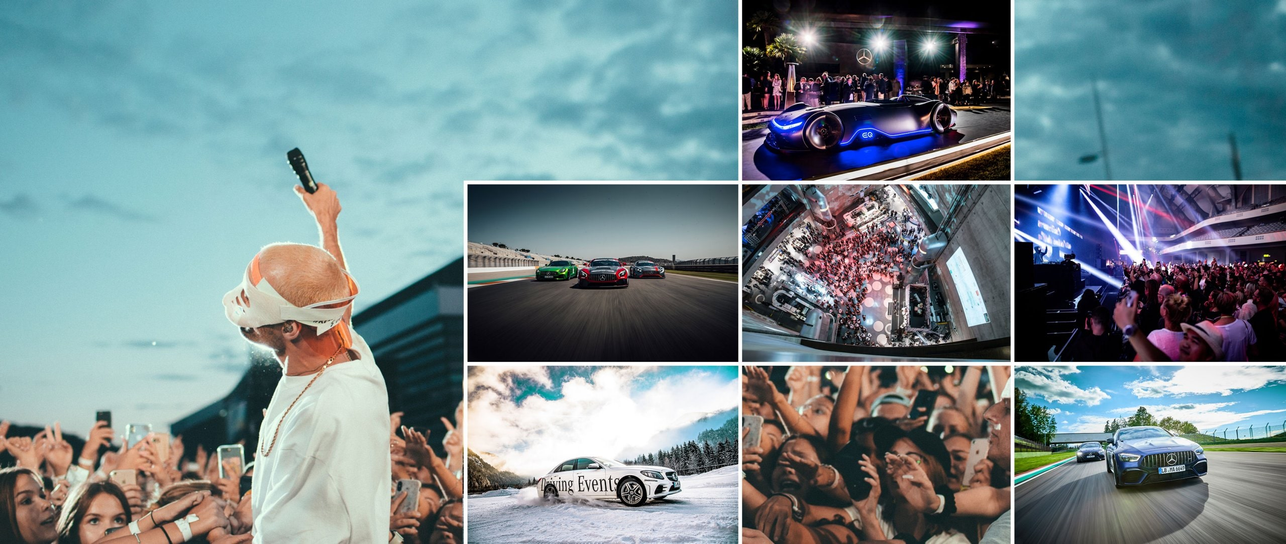 Together with Mercedes-Benz, discover diverse events.