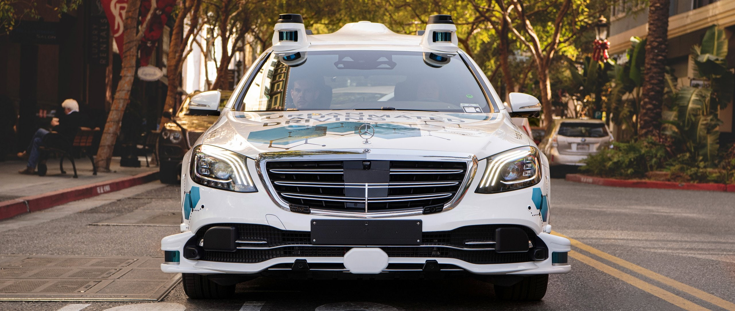 An automated vehicle from Mercedes-Benz.