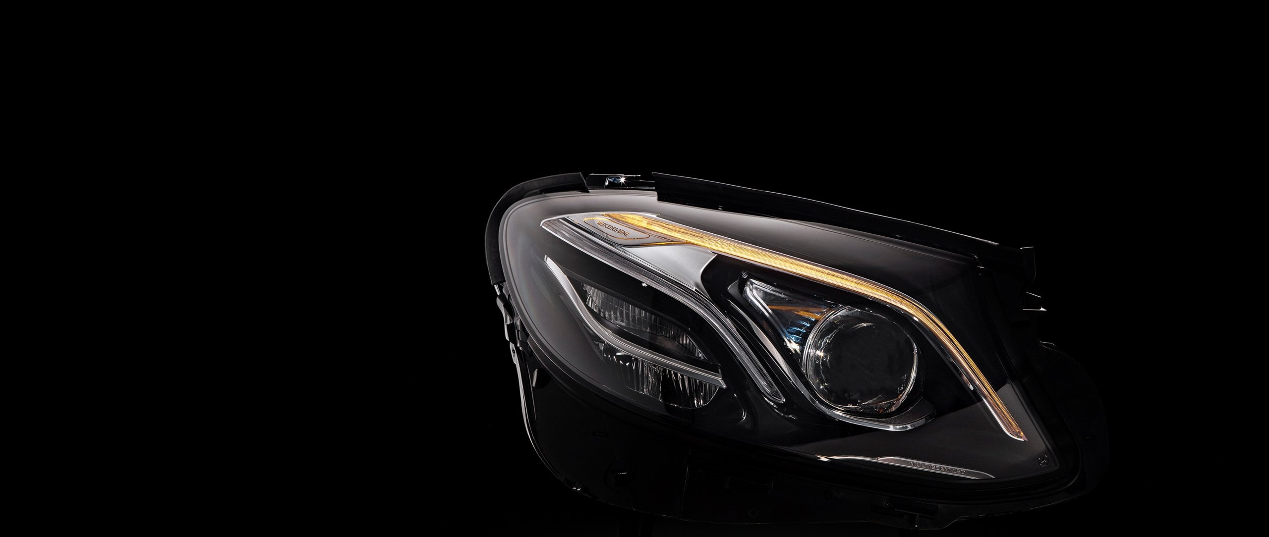 let there be light the led headlamps of the new mercedes benz e class mercedes benz e class