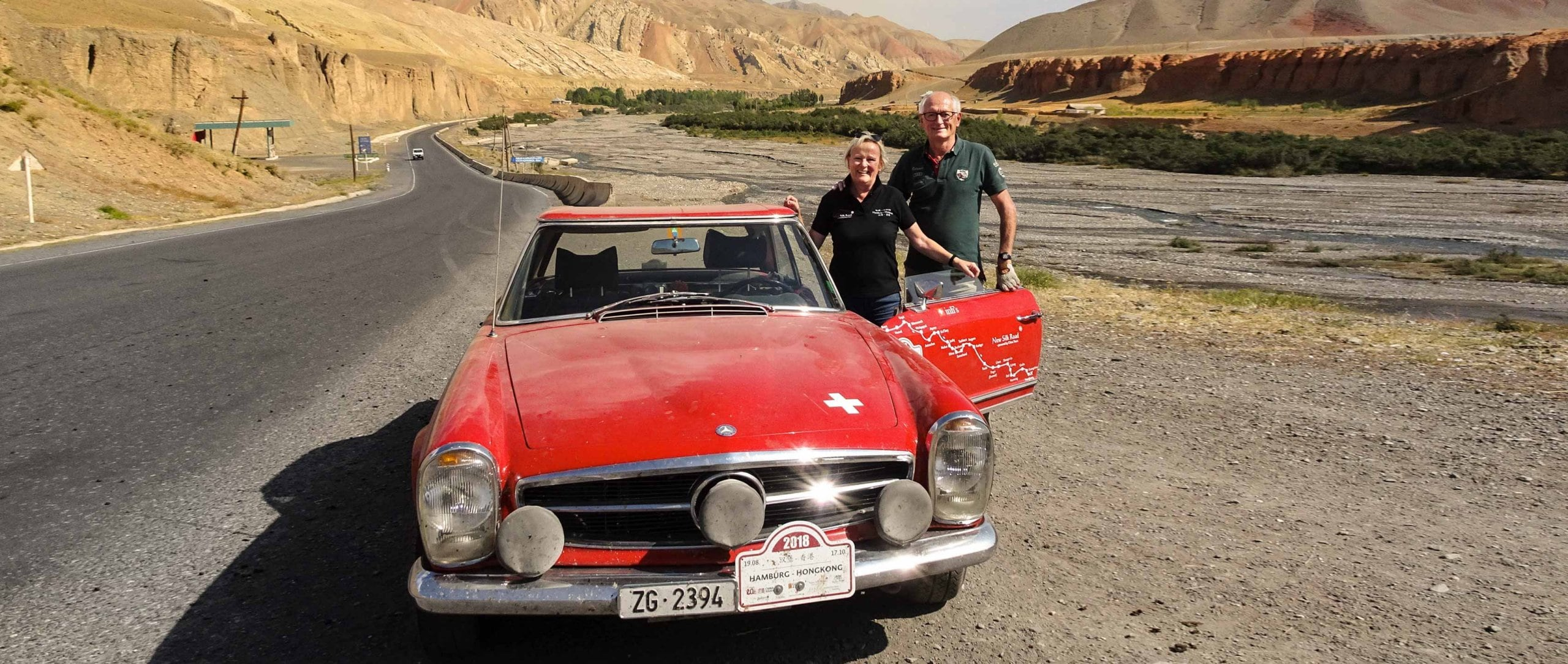 Dream journey: He is the man at the wheel; his wife Susi is the perfect co-driver.