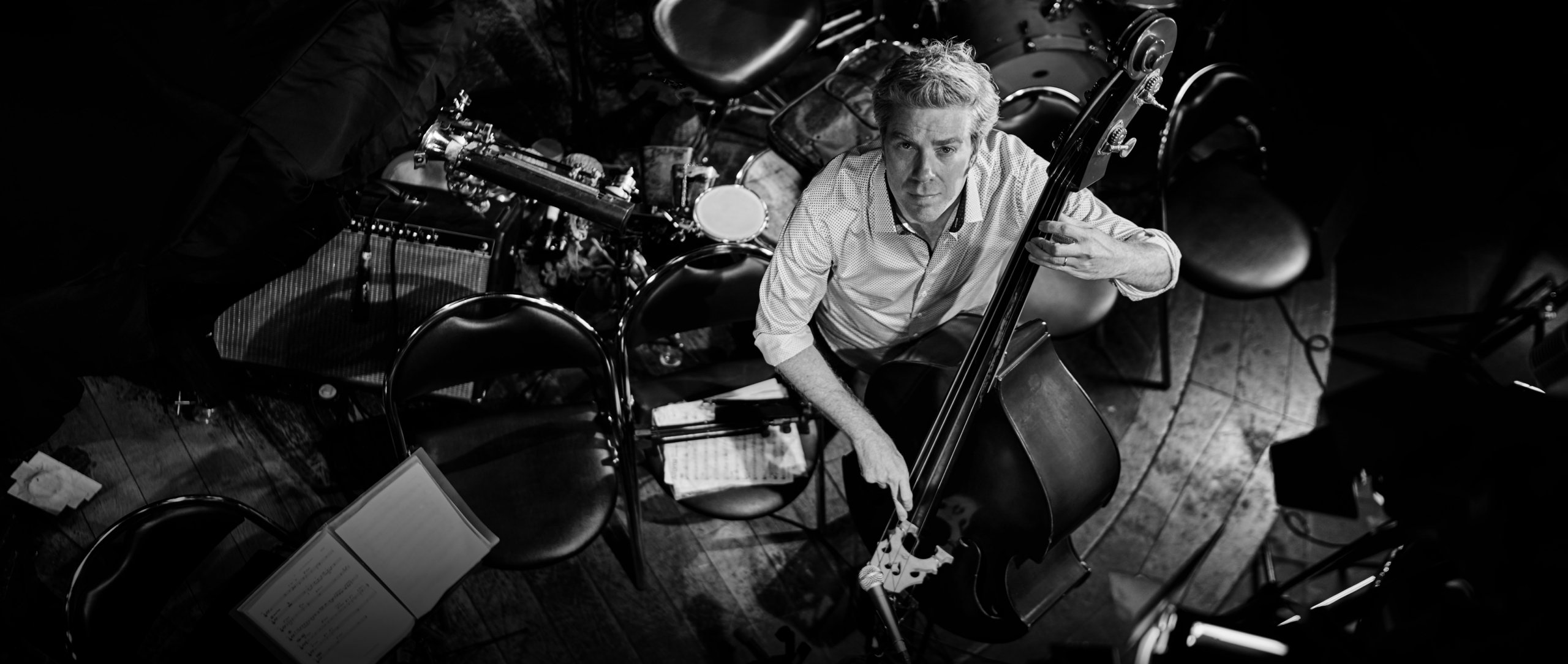 Kyle Eastwood on stage at the Duc des Lombards jazz club.