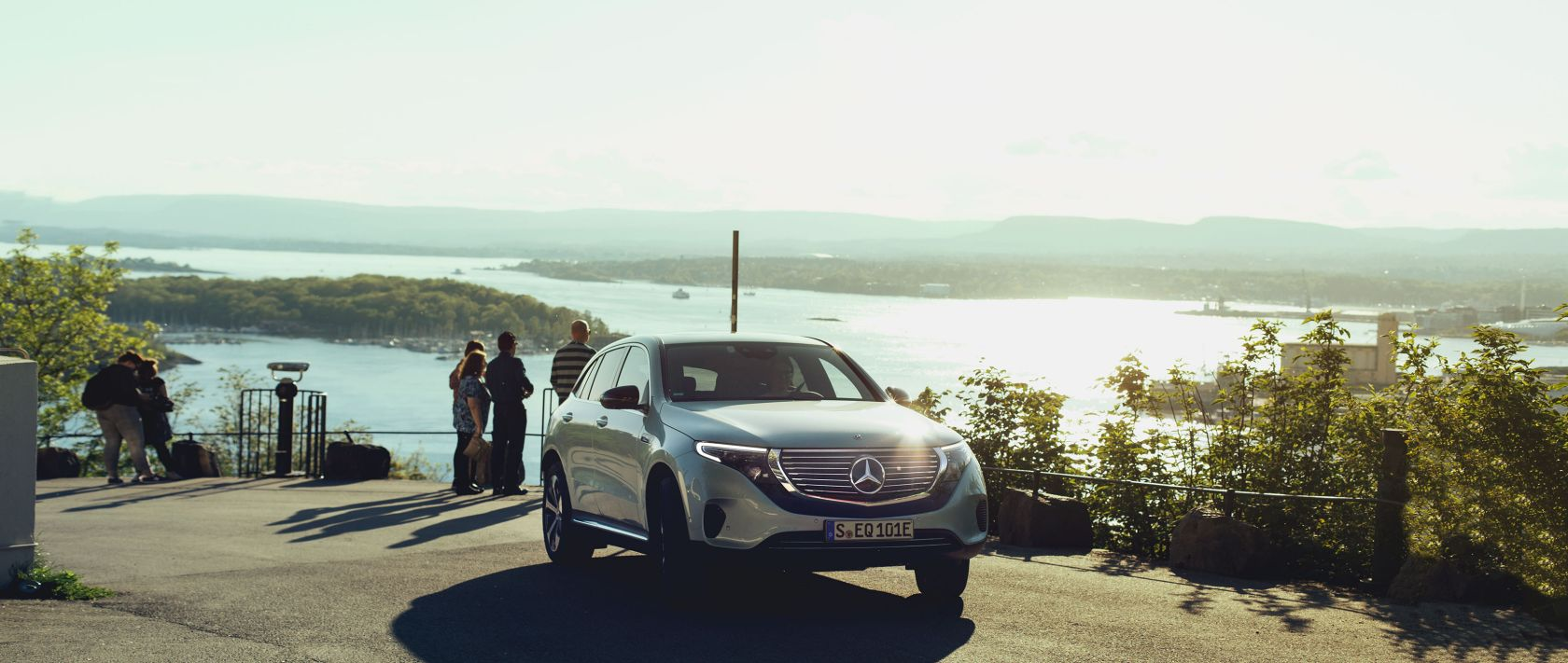 The Oslofjord is one of the largest fjords in Norway and a fitting backdrop for the Mercedes-Benz EQC.