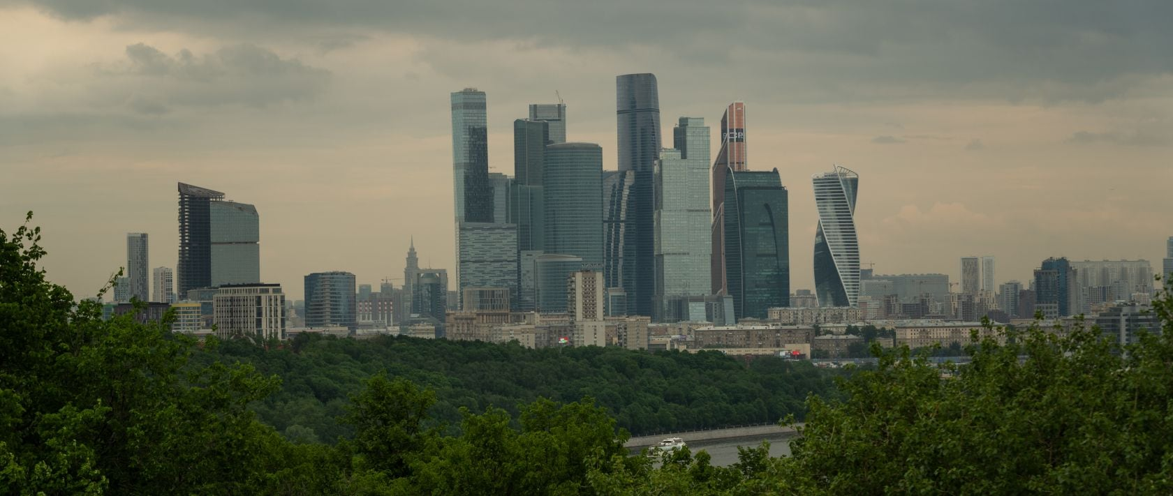 The modern archi­tecture of ­Moscow's financial district offers a striking contrast to the historic city centre.