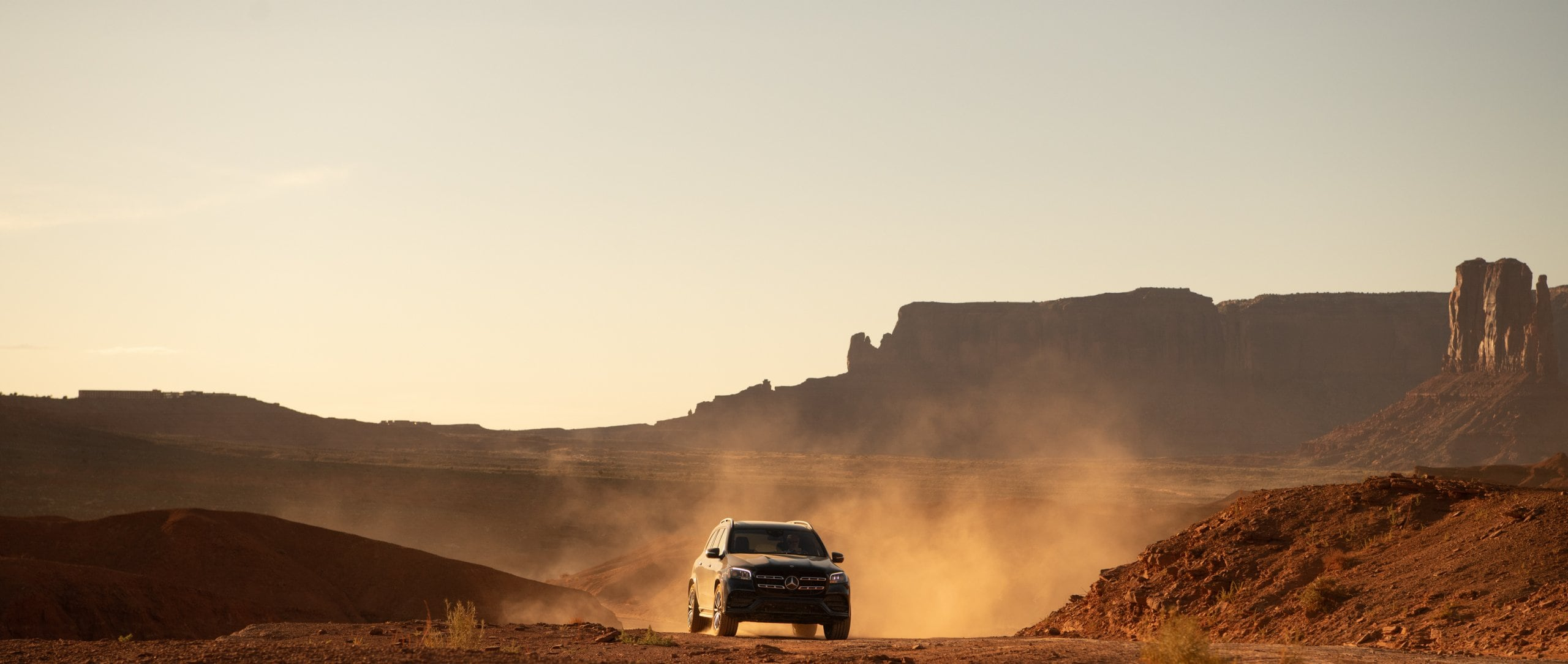 Going off-road: in the GLS through Monument Valley.