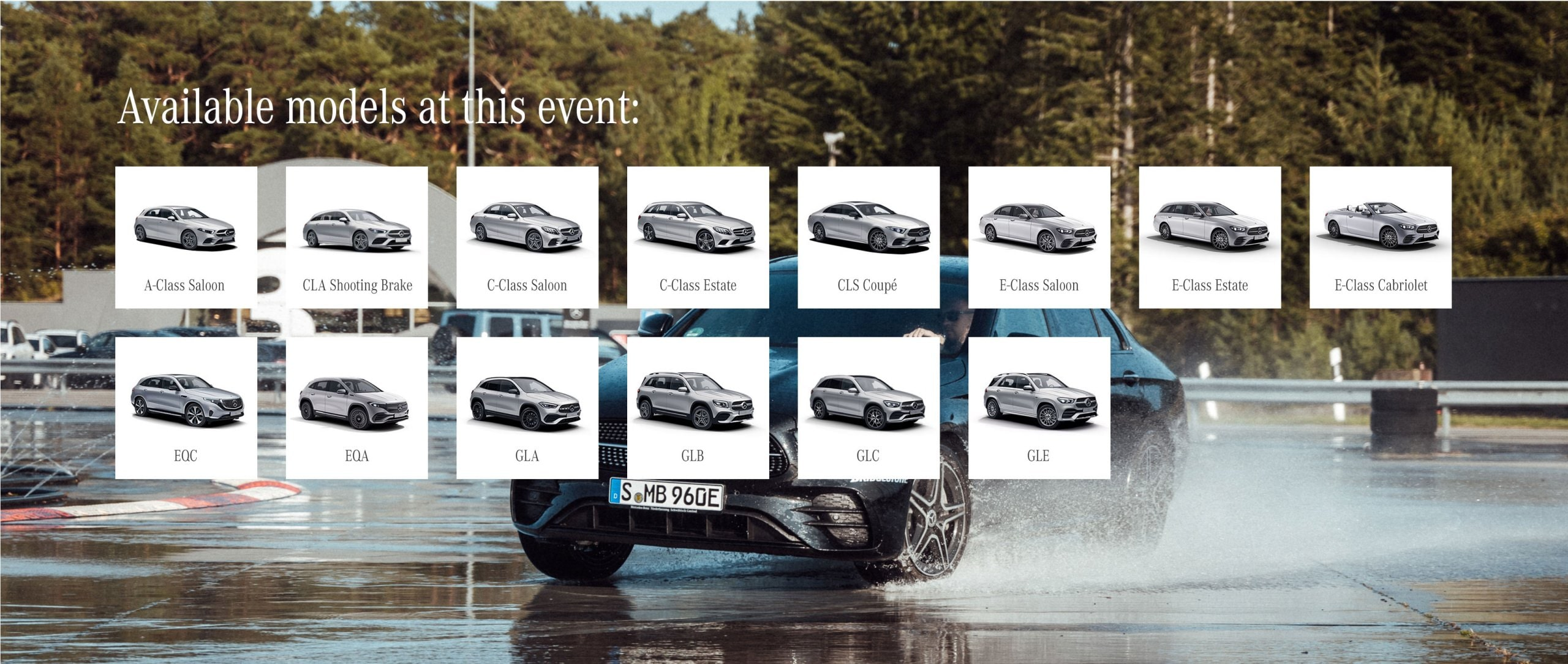 Vehicles provided at this Mercedes-Benz Driving Event.