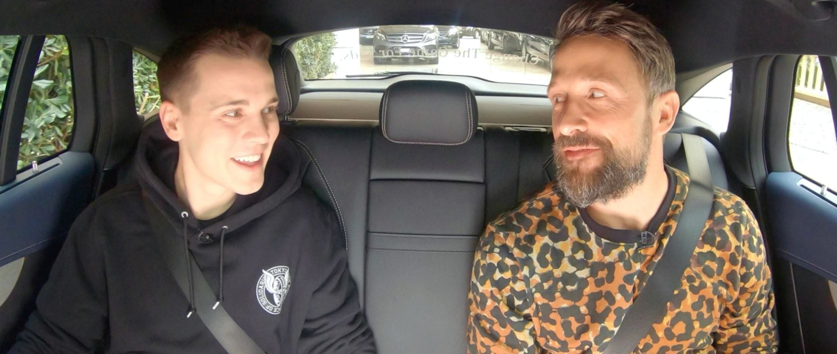 Interview: DJ Felix Jaehn and presenter Florian Ambrosius in the Mercedes-Benz EQC (N 293) in Monaco.