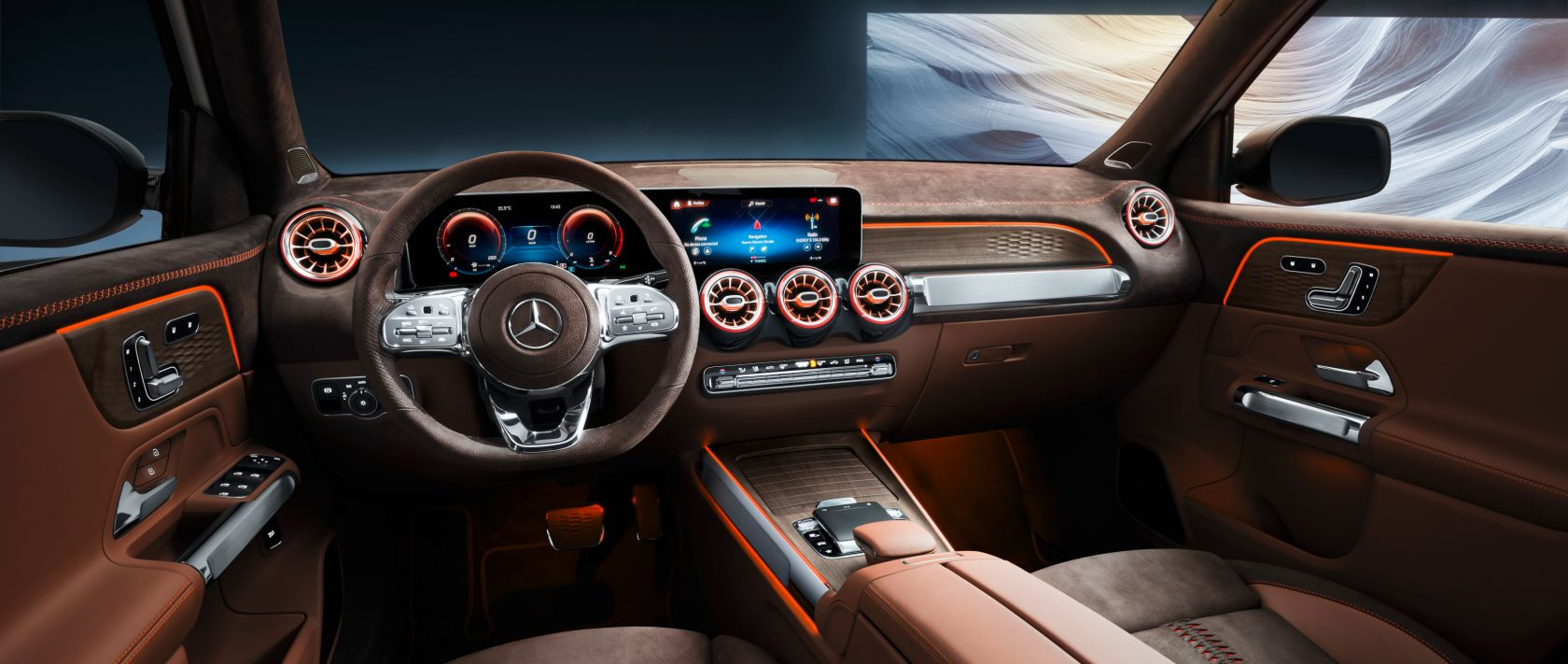 Interior of the Mercedes-Benz Concept GLB.