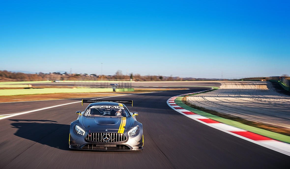 The new Mercedes-AMG GT3.