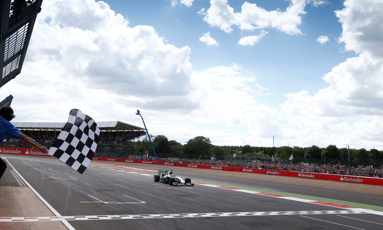Lewis Hamilton took victory in his home race at the British Grand Prix, while Nico Rosberg was forced to retire.