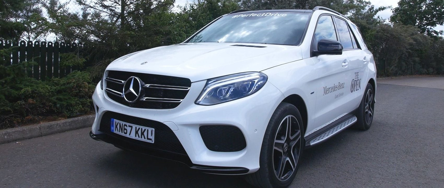 Mercedes-Benz invited spectators at The 147th Open to win a trip in an official Courtesy Car (GLE 500 e 4MATIC).