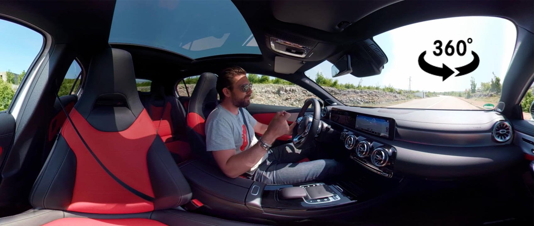 Take a 360° ride in the new Mercedes-Benz A-Class. YouTuber MrJWW introduces the compact car.