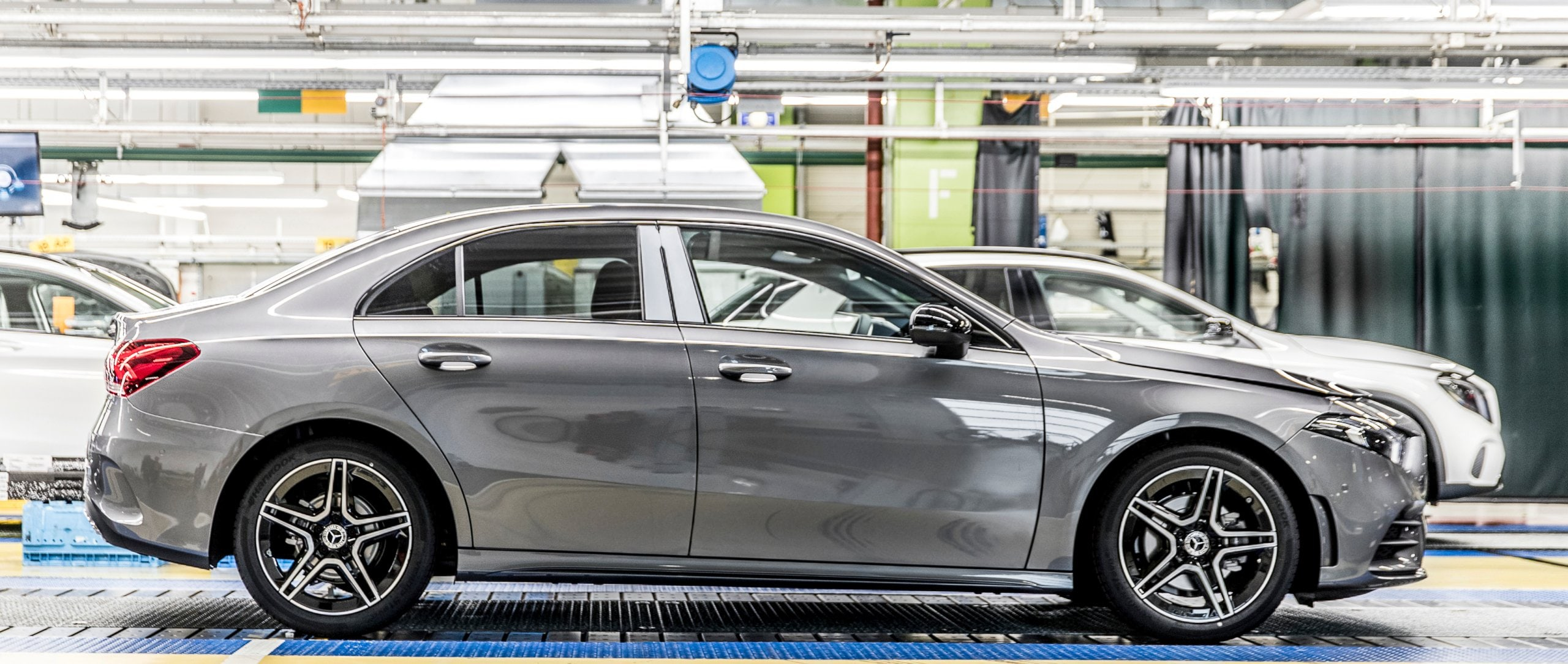 "Start of production of the new 2019 Mercedes-benz A-Class Saloon (V 177): The five millionth Mercedes-Benz compact vehicle ""Made in Rastatt""."