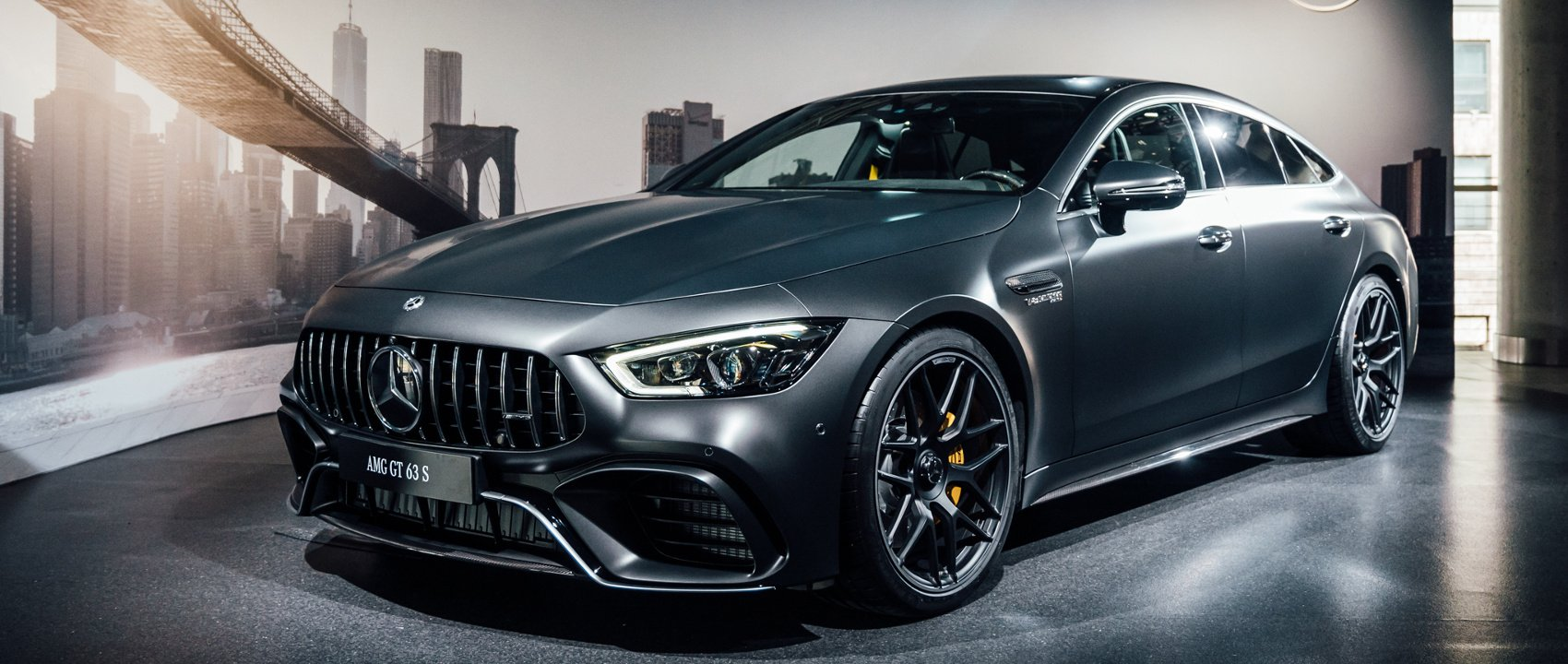 The Mercedes-AMG GT 63 S 4MATIC+ at the New York International Auto Show 2018.