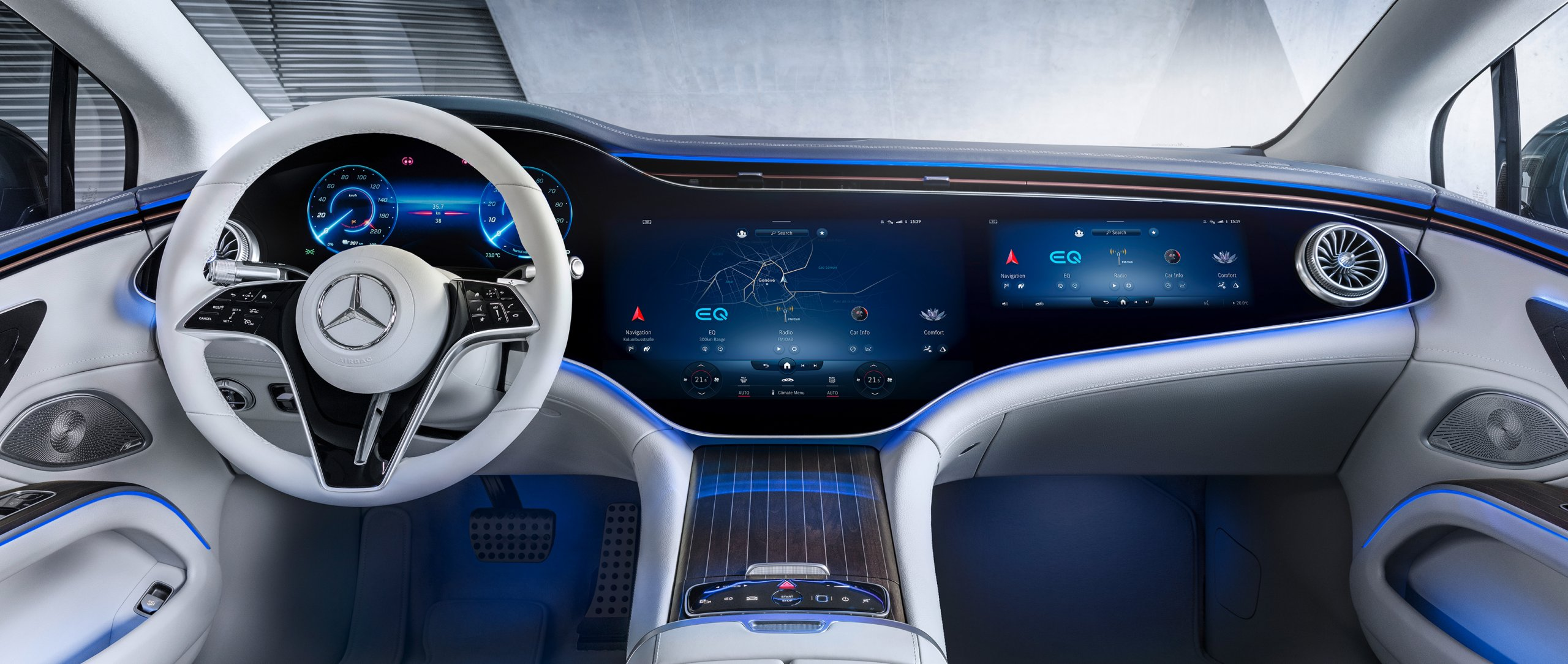 The MBUX Hyperscreen in the new 2021 EQS (V 297) by Mercedes-EQ