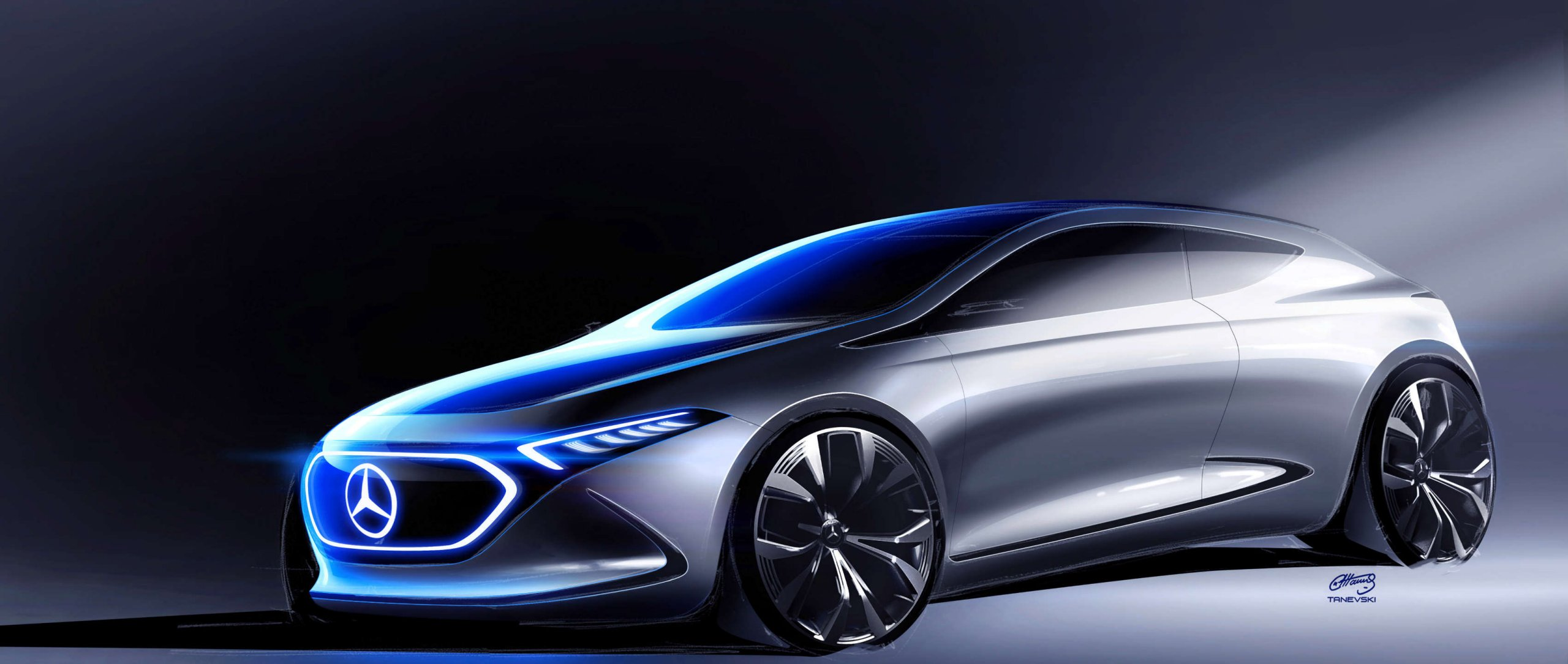 Mercedes-Benz: Concept Car EQA – Design.