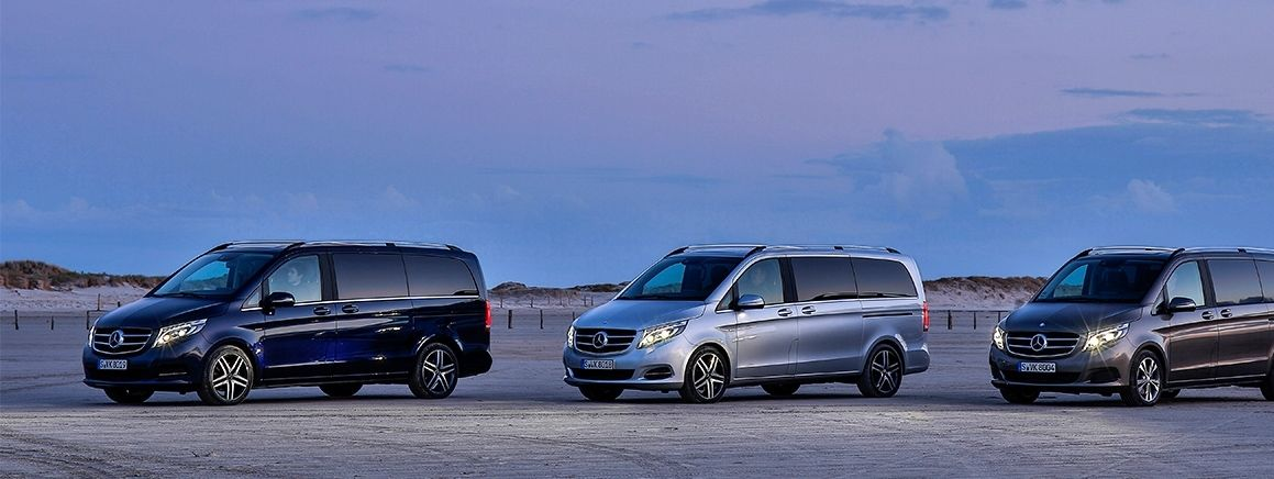 The V-Class range from Mercedes-Benz.