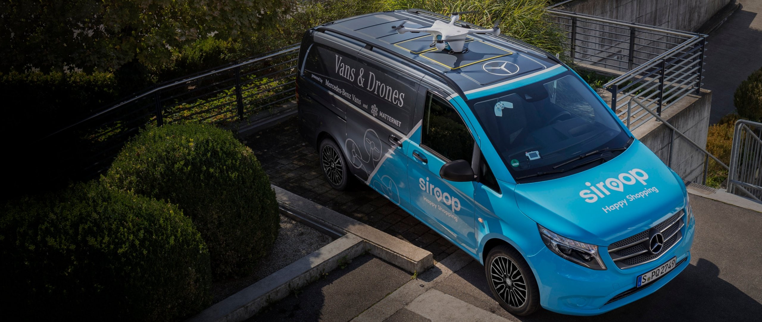 Mercedes-Benz Vans, Matternet and siroop start pilot project for on-demand delivery of e-commerce goods in Zurich.